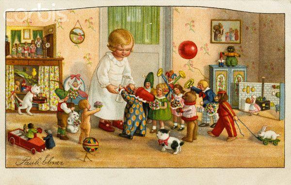 petite fille avec ses jouets