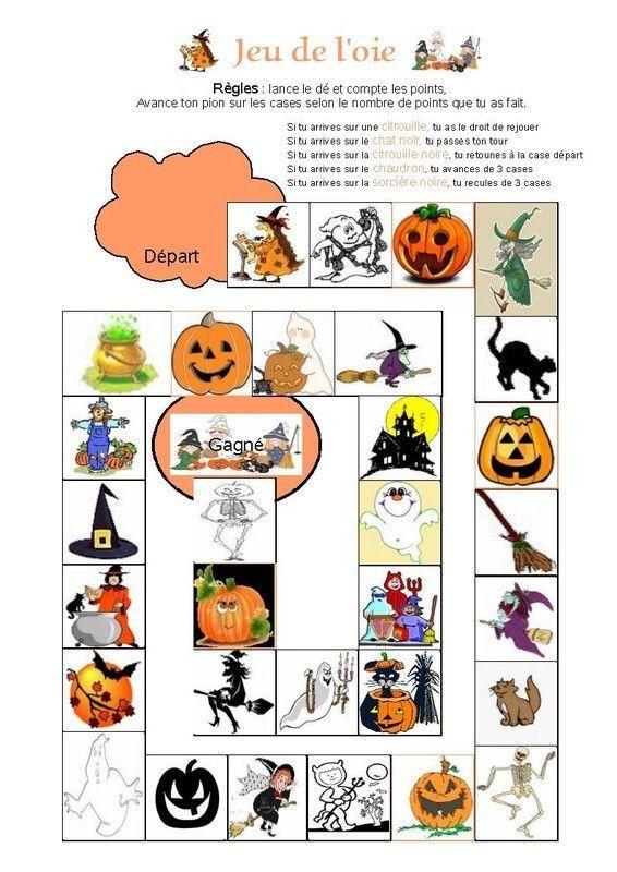 Jeu de l 39 oie halloween - Pinterest francais bricolage ...