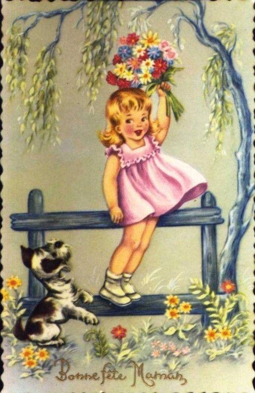 Belle carte ancienne bonne fete maman - Carte a imprimer bonne fete maman ...