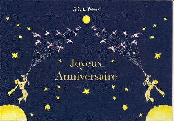 Jolie Carte Joyeux Anniversaire Avec Petit Prince