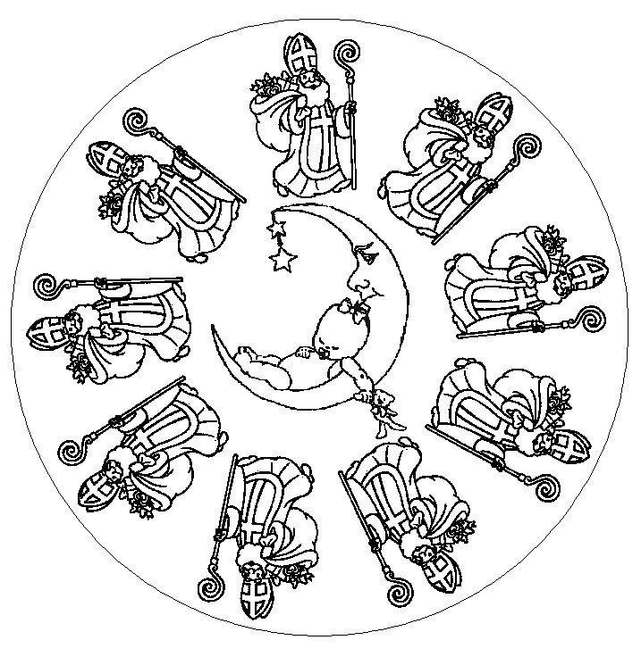 Mandala de saint nicolas - Image de saint nicolas a imprimer ...